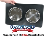 FrostyBowlz Magnetic Matz & Two 60 oz. Magnetic Bowls